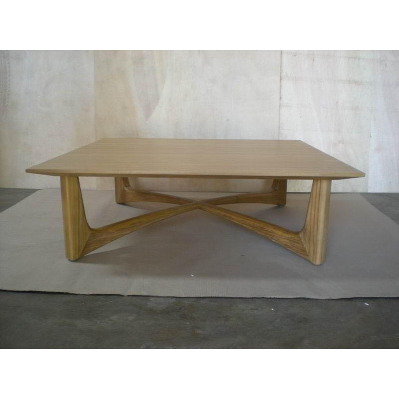 Table basse en teck massif 120x120x38cm como b cosy for Table basse en teck massif