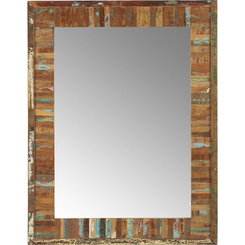 Miroir bois et metal for Grand miroir metal