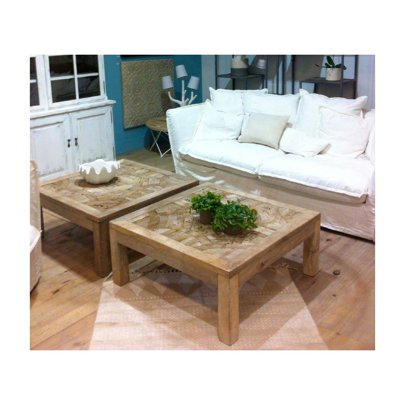 table basse en bois recycl birma hanjel trendy homes. Black Bedroom Furniture Sets. Home Design Ideas