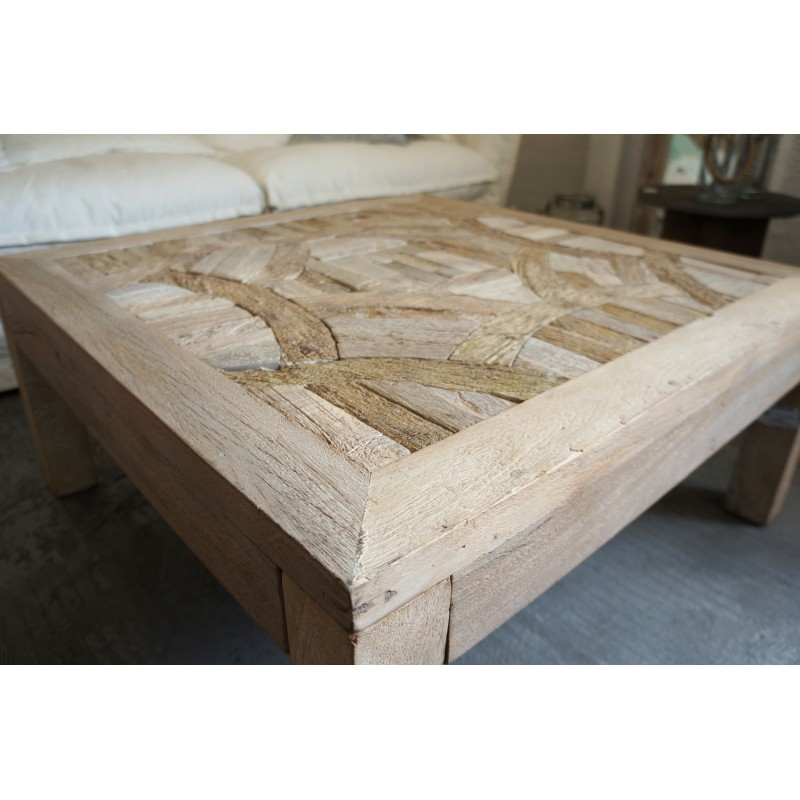 Table basse en bois recycl birma hanjel for Table basse en bois