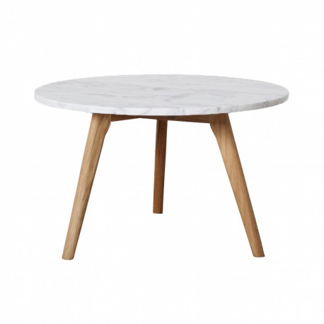 Table Basse Ronde Scandinave En Marbre Blanc D50cm Fiord Trendy Homes