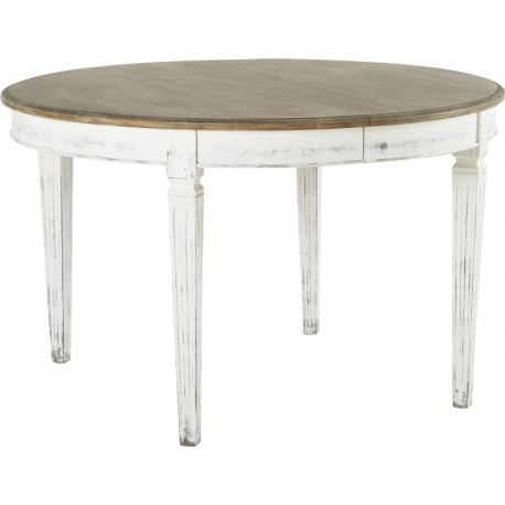 Table ronde rallonges 128x128 110 x78cm stockholm hanjel trendy homes for Table ronde a rallonges
