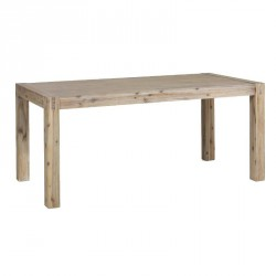 Table de repas en acacia massif truffe blanchie 200(+50)x100x78cm STACEY - Rv Design
