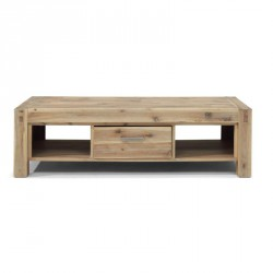 Table basse rectangulaire en acacia teinte truffe blanchie STACEY - RV Design