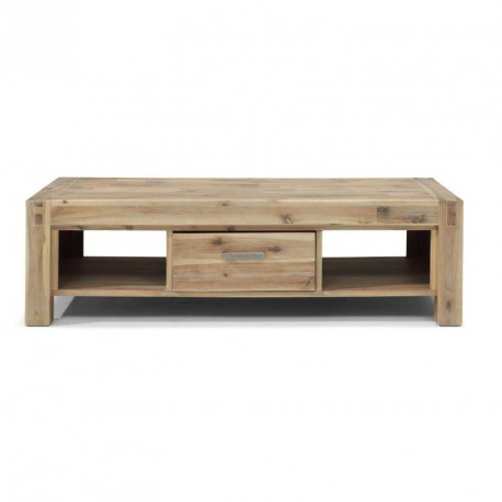 Table Basse Rectangulaire En Acacia Teinte Truffe Blanchie Stacey