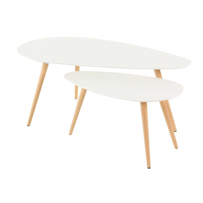 Tables basses gigognes scandinaves en ch ne pixy trendy homes - Tables basses gigognes ...