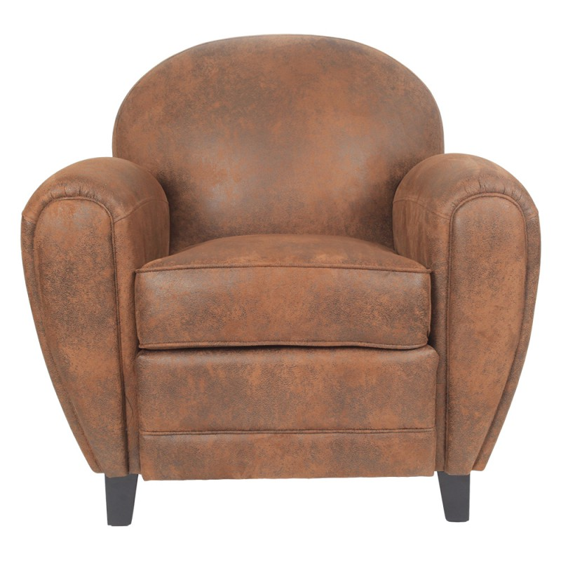 fauteuil club en microfibre marron westfield trendy homes. Black Bedroom Furniture Sets. Home Design Ideas