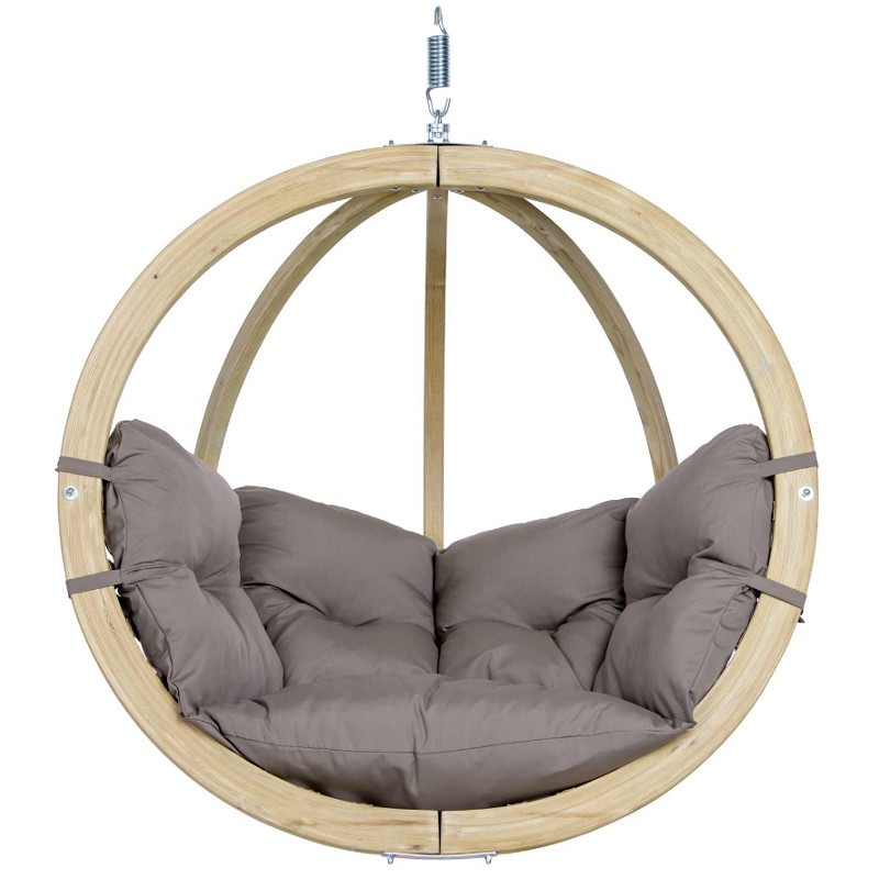 Trendy Suspendue Bois Taupe Homes Chaise Globo En Amazonas vN80nmw