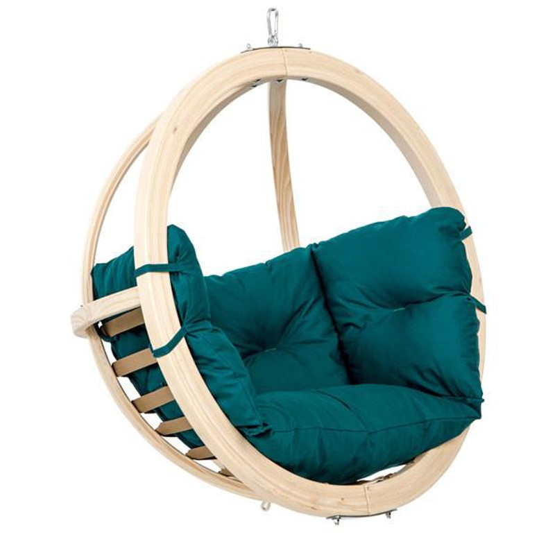 fauteuil suspendu pour enfant en bois globo vert amazonas. Black Bedroom Furniture Sets. Home Design Ideas