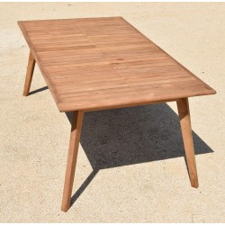 Table de jardin extensible en teck massif L180-240x100x75cm TAHITI - Givex